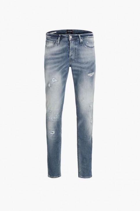 JACK & JONES JEANS INTELLIGENC Jeans slim denim JJIGLENN JJPAGE_BL795BLUEDESTR img5