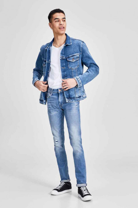 JACK & JONES JEANS INTELLIGENC Jeans skinny denim JJILIAM JJICON_JJ070BLUEDESTR img1