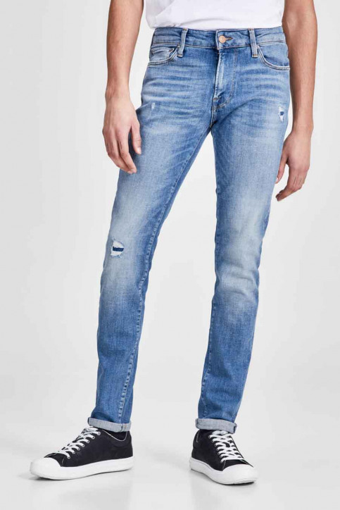 JACK & JONES JEANS INTELLIGENC Jeans skinny denim JJILIAM JJICON_JJ070BLUEDESTR img2