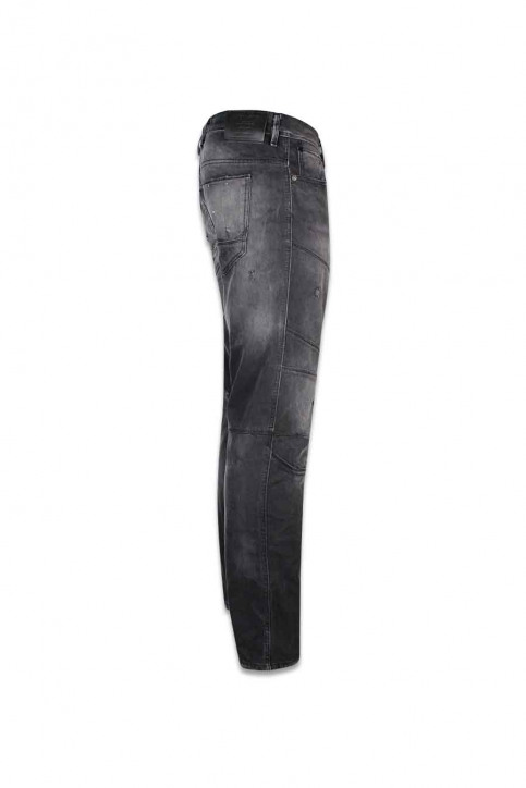 JACK & JONES JEANS INTELLIGENCE Jeans tapered zwart JJIMIKE JJJAX_BL 793 BLACK D img3