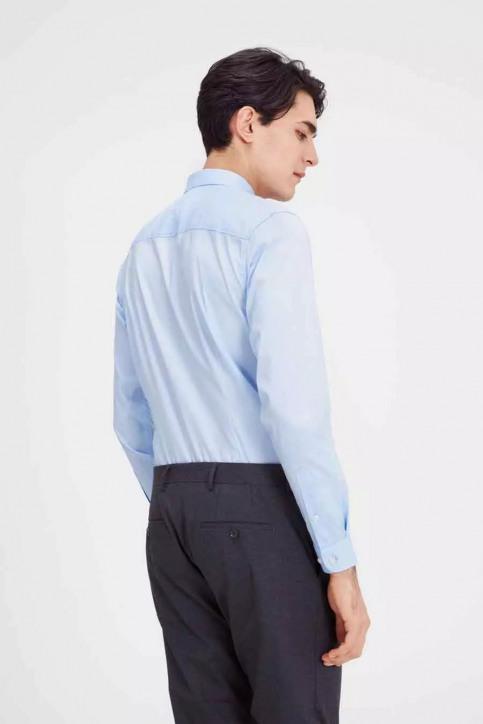 PREMIUM BY JACK & JONES Hemden (lange mouwen) blauw JJPRPARMA SHIRT LS_CASHMERE BLUE img3