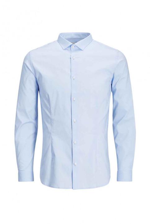 PREMIUM BY JACK & JONES Chemises (manches longues) bleu JJPRPARMA SHIRT LS_CASHMERE BLUE img5