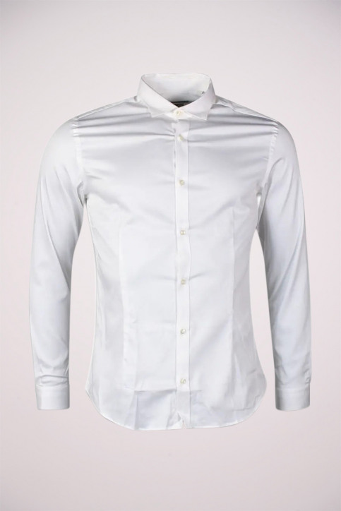 PREMIUM BY JACK & JONES Chemises (manches longues) blanc JJPRPARMA SHIRT LS_WHITE img1
