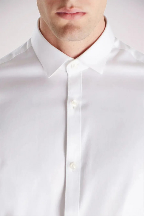 PREMIUM BY JACK & JONES Chemises (manches longues) blanc JJPRPARMA SHIRT LS_WHITE img2