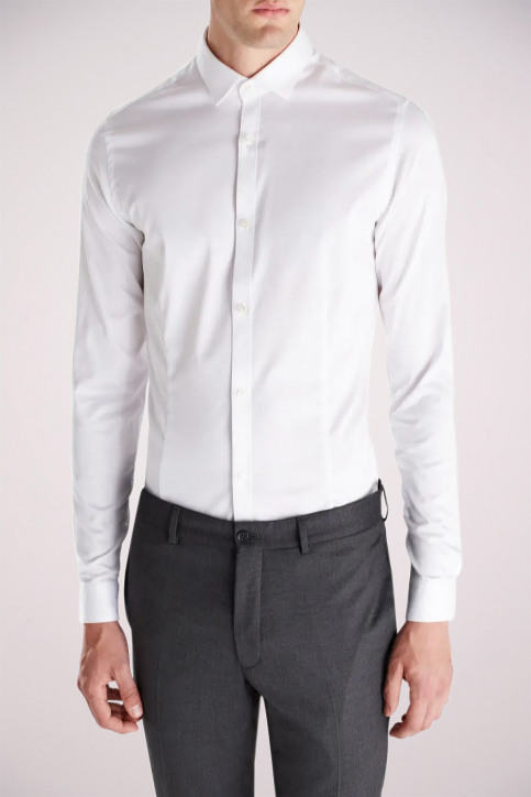 PREMIUM BY JACK & JONES Chemises (manches longues) blanc JJPRPARMA SHIRT LS_WHITE img3