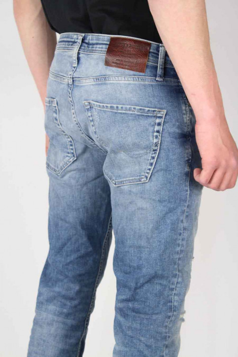 JACK & JONES JEANS INTELLIGENC Jeans slim denim JJTIM ORIGINAL_JJ925BLUE img4