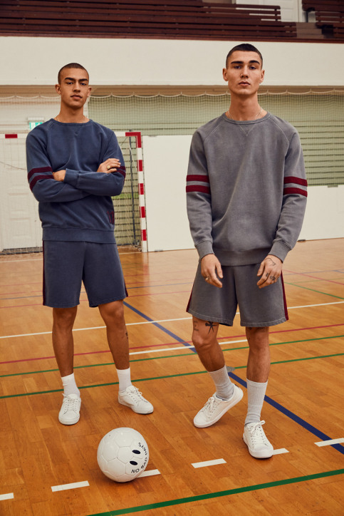 JACK & JONES COLAB Shorts noir JORWISE SWEAT SHORTS_TOTAL ECLIPSE img2