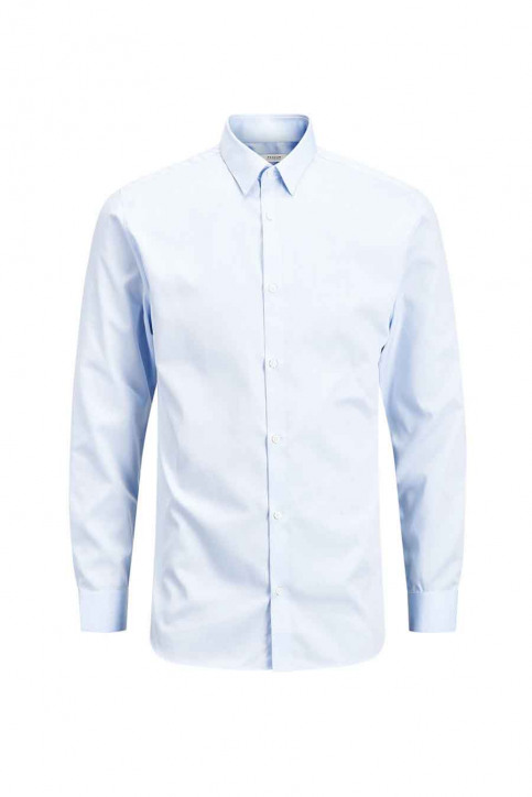 PREMIUM BY JACK & JONES Chemises (manches longues) bleu JPRNON IRON SHIRT LS_CASHMERE  BLUE img7