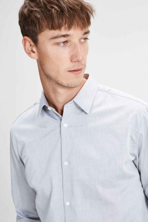 PREMIUM BY JACK & JONES Hemden (lange mouwen) grijs JPRNON IRON SHIRT LS_GREY MELANGE img4