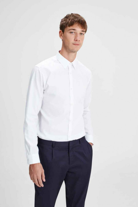 PREMIUM by JACK & JONES Chemises (manches longues) blanc JPRNON IRON SHIRT LS_WHITE img1