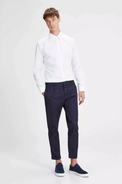 PREMIUM by JACK & JONES Chemises (manches longues) blanc JPRNON IRON SHIRT LS_WHITE img2