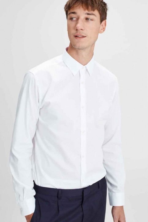 PREMIUM BY JACK & JONES Chemises (manches longues) blanc JPRNON IRON SHIRT LS_WHITE img4