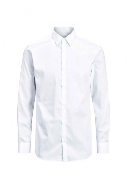 PREMIUM by JACK & JONES Chemises (manches longues) blanc JPRNON IRON SHIRT LS_WHITE img5