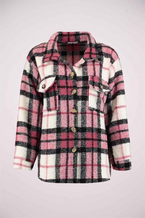 HAILYS Vestes courtes rose LF256051_ROSEWOOD CHECK img1