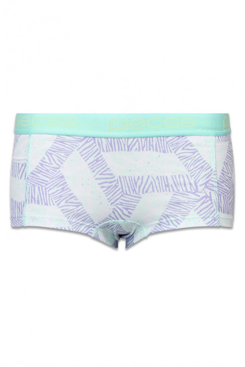 PIECES Shorty multicoloré LOGO LADY BOXER14130_MOONLIGHT JADE img1