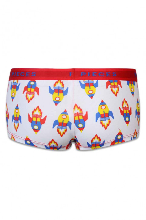 PIECES Shorty wit LOGO LADY BOXER14200_WHITE img2