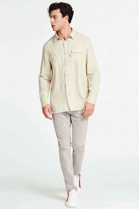 GUESS Hemden (lange mouwen) beige M02H46WBGX0_G9H1 TAPIOCAGRE img2