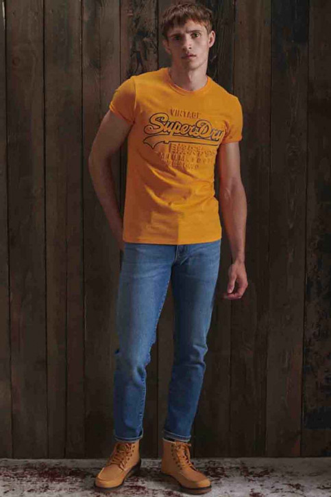 SUPERDRY T-shirts (manches courtes) jaune M1010350A_UKD ALASKA GOLD img3