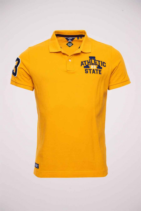 SUPERDRY Polo's (lange mouwen) geel M1110046A_PG5 UPSTA GOLD img4