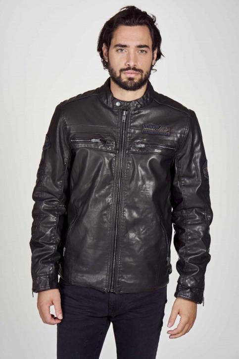 Petrol Industries® Vestes en cuir noir M3000JAC103_9999 BLACK img2