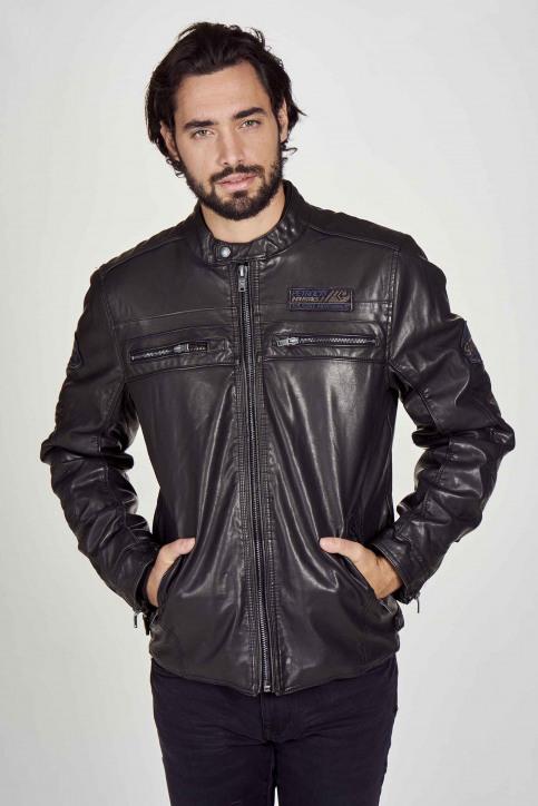 Petrol Industries® Vestes en cuir noir M3000JAC103_9999 BLACK img3