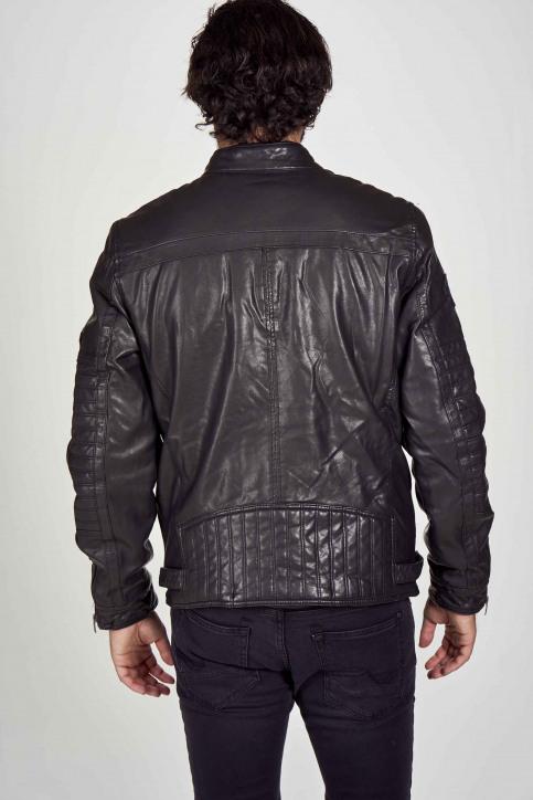 Petrol Vestes en cuir noir M3000JAC103_9999 BLACK img4