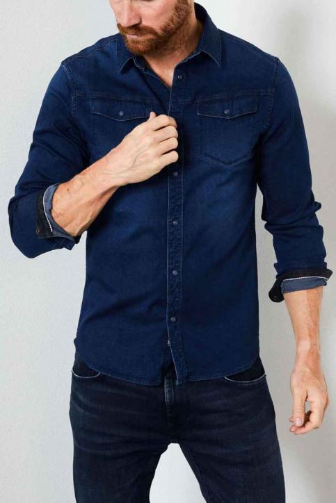 Petrol Industries® Hemden (lange mouwen) blauw M3000SIL4090_5079 DARK INDIG img1