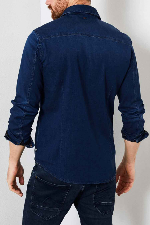 Petrol Hemden (lange mouwen) blauw M3000SIL4090_5079 DARK INDIG img2
