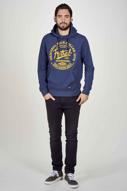 Petrol Sweaters met kap blauw M3000SPSWH422_5082 PETROL BLU img1