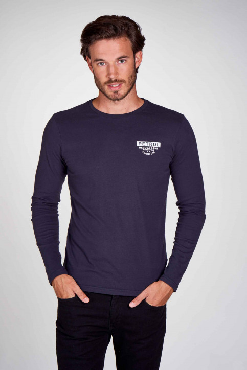 Petrol T-shirts (lange mouwen) blauw M3000SPTLR310_5091 DEEP NAVY img2