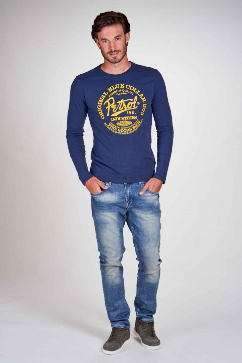 Petrol Industries® T-shirts (manches longues)) bleu M3000SPTLR412_5082 PETROL BLU img1