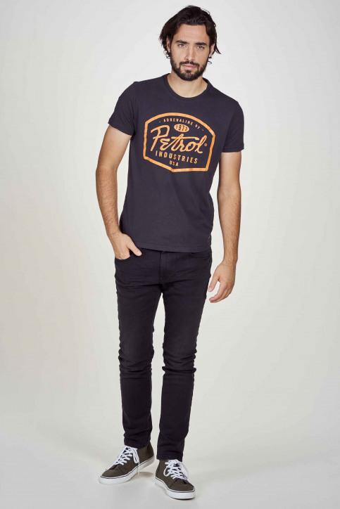 Petrol T-shirts (korte mouwen) zwart M3000SPTSR408_5097 BLACK NAVY img1