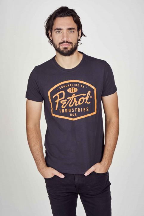Petrol T-shirts (korte mouwen) zwart M3000SPTSR408_5097 BLACK NAVY img2