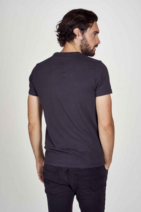 Petrol T-shirts (korte mouwen) zwart M3000SPTSR408_5097 BLACK NAVY img3