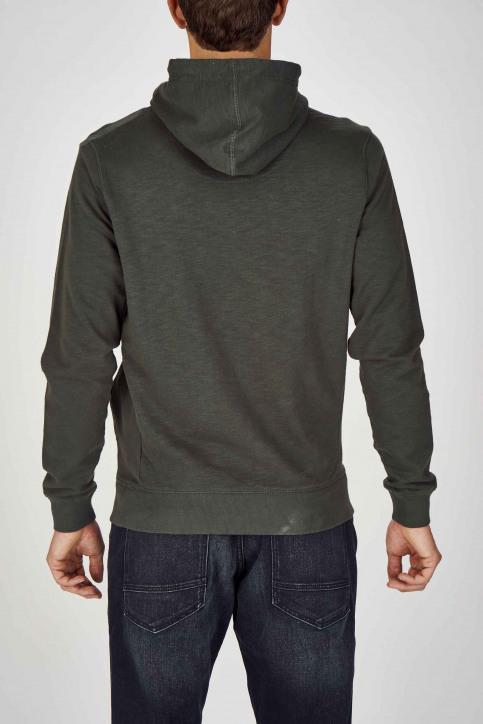 Petrol Sweaters met kap groen M3090SPSWH302_6089 BOTTLE GRE img2