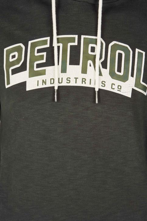 Petrol Sweaters met kap groen M3090SPSWH302_6089 BOTTLE GRE img3