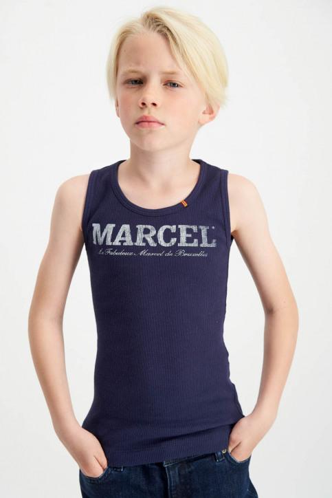 Le Fabuleux Marcel De Bruxelles Singlets blauw MDB MARCELLEKE_NAVY img2