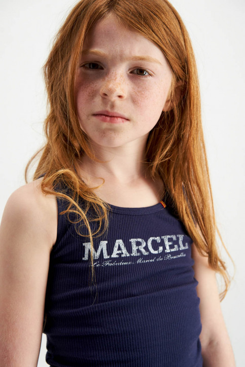 Le Fabuleux Marcel De Bruxelles Singlets blauw MDB MARCELLEKE_NAVY img3