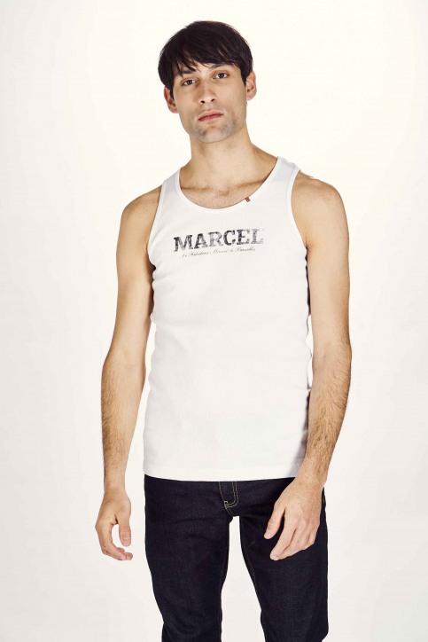 Le Fabuleux Marcel De Bruxelles Singlets wit MDB NOOS PABLO_WHITE img1