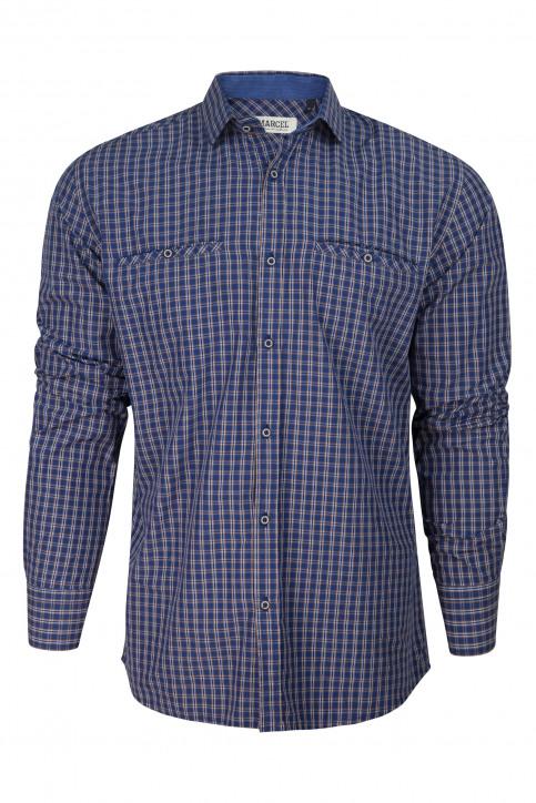 Le Fabuleux Marcel De Bruxelles Chemises (manches longues) bleu MDB182MT 014_NAVY CHECK img6
