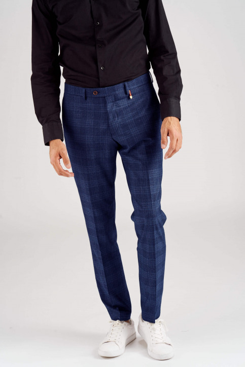 Le Fabuleux Marcel De Bruxelles Pantalons de costume bleu MDB182MT 020_BLUE CHECK img4