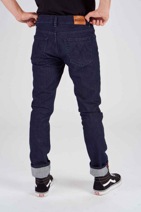 Le Fabuleux Marcel De Bruxelles Jeans straight denim MDB184MT 001_DARK DENIM img3