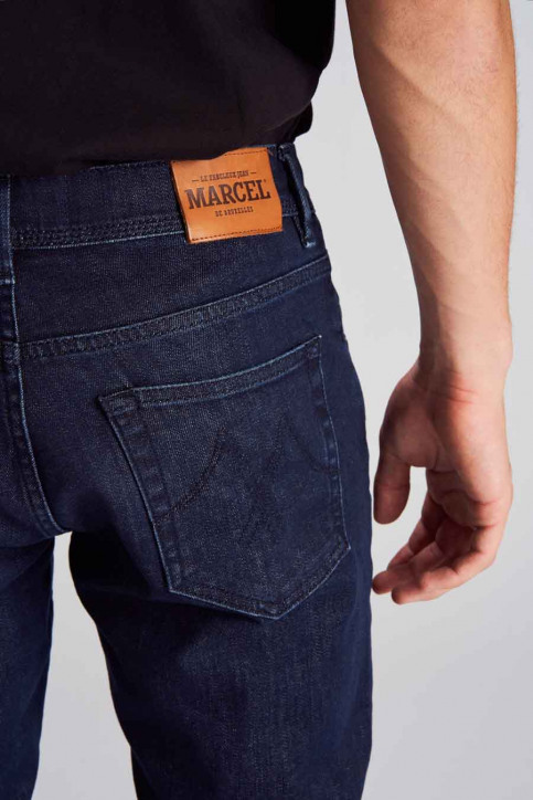 Le Fabuleux Marcel De Bruxelles Jeans straight denim MDB184MT 001_DARK DENIM img5
