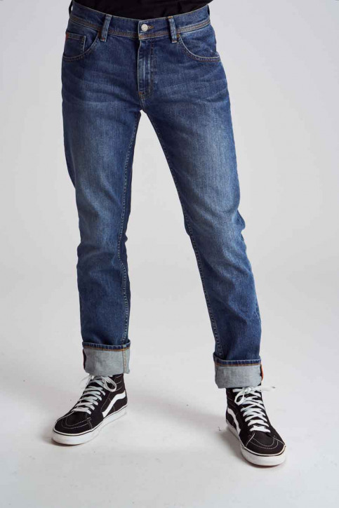 Le Fabuleux Marcel De Bruxelles Jeans straight denim MDB184MT 003_LIGHT DENIM img1