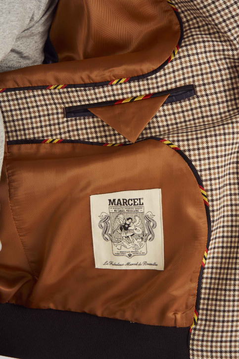 Le Fabuleux Marcel De Bruxelles Jassen (kort) bruin MDB191MT 005_BROWN img5
