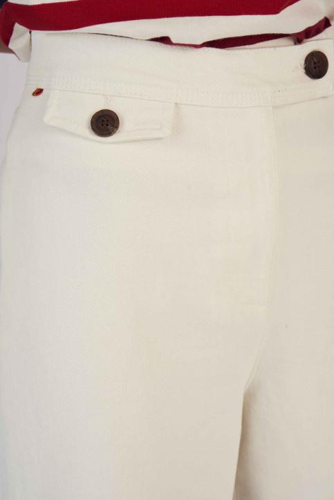 Le Fabuleux Marcel De Bruxelles Jeans fared wit MDB191WT 039_WHITE img4