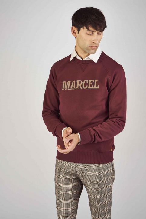 Le Fabuleux Marcel De Bruxelles Sweaters met ronde hals rood MDB192MT 007_BORDEAUX img1
