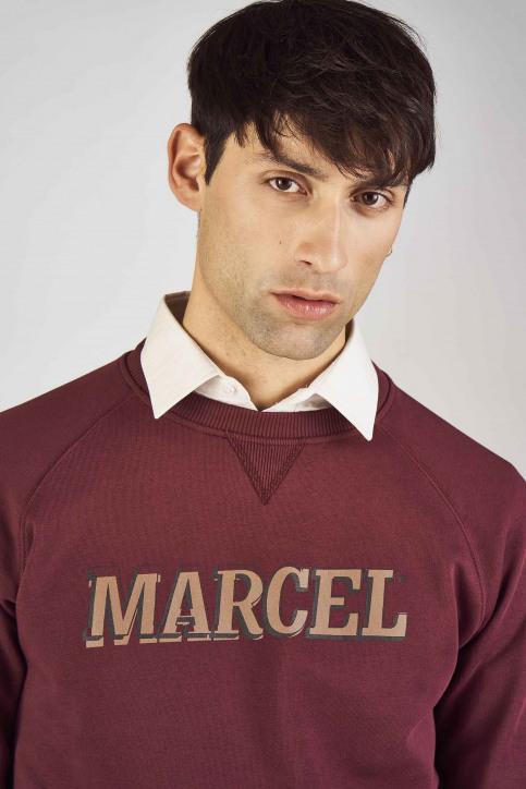 Le Fabuleux Marcel De Bruxelles Sweaters met ronde hals rood MDB192MT 007_BORDEAUX img4