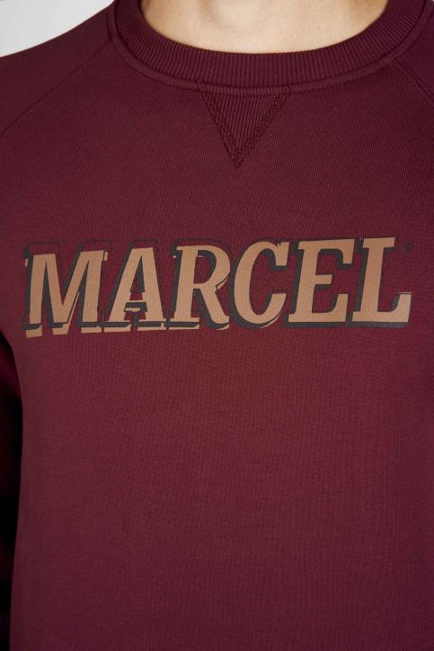 Le Fabuleux Marcel De Bruxelles Sweaters met ronde hals rood MDB192MT 007_BORDEAUX img7