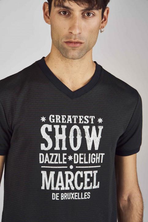 Le Fabuleux Marcel De Bruxelles T-shirts (korte mouwen) groen MDB192MT 011_MILITARY img3